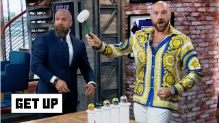 Tyson Fury smashes mini Cowboys helmet during NFL Power Rankings | Get Up