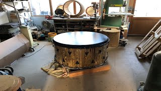 """Tamashi Kaï Drum"" (tambour soignant...) Fabrication, les coulisses..."