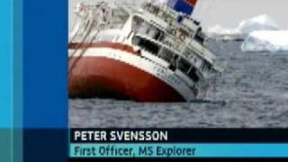 MV Explorer sinking in Antarctica
