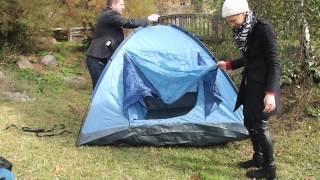 Camping in Berlin.