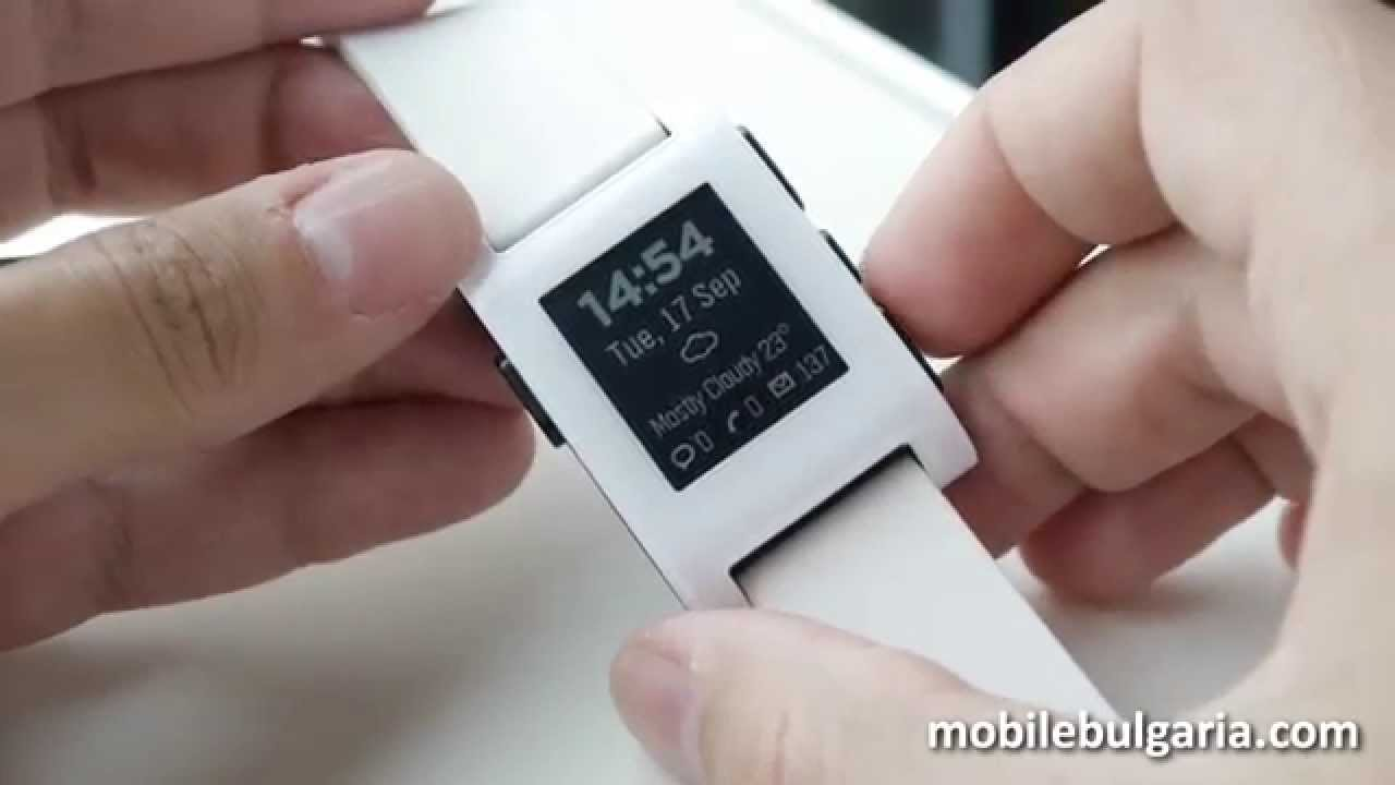 Pebble smart watch interface and build