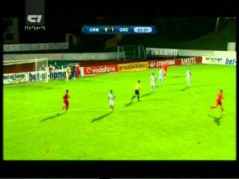 товарищеский матч Греция-Армения 1-0 2-ый тайм