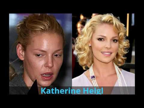 Top hollywood celebrities with and without make up