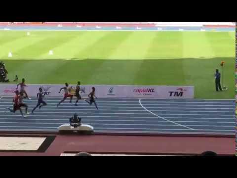 Sukan SEA 2017 || Khairul Hafiz Jantan  menang separuh akhir kedua 100m