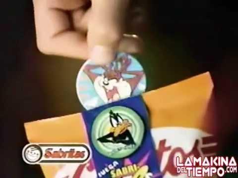 Tazos Looney Tunes de Sabritas  Comercial de Tv  1994