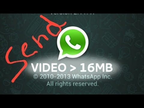 Simple trick to send big videos (above 16mb) on whatsapp....