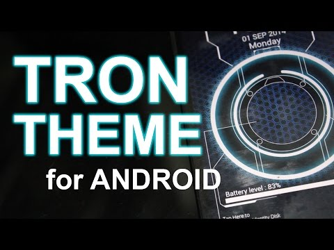 How to Set a Tron Theme for your Android