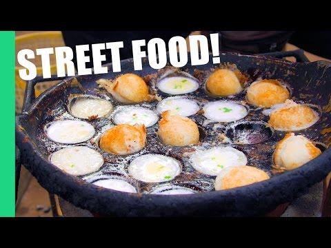 Cambodian Street Food in a Local Market (Noum Krouk)