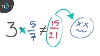 Error al multiplicar un entero por una fracción - HD