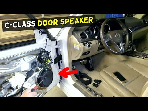HOW TO REPLACE FRONT DOOR SPEAKER ON MERCEDES W204 C250 C350 C180 C200 C350 C220