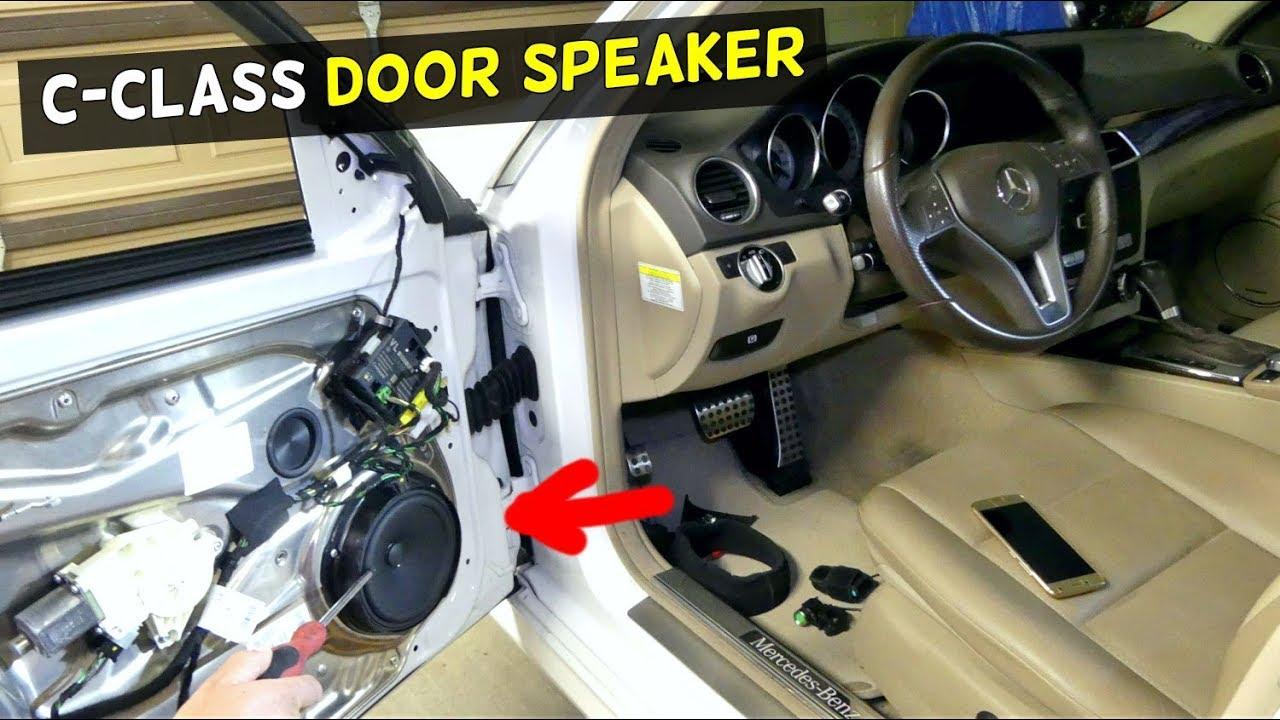 HOW TO REPLACE FRONT DOOR SPEAKER ON MERCEDES W204 C250 C350 C180 C200 C350  C220