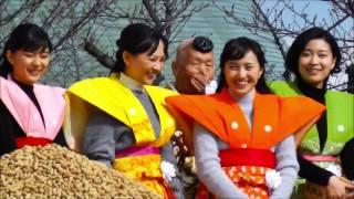 成田山不動尊で恒例の節分会・豆まきがあった。参加者は、NHK連続テレビ...