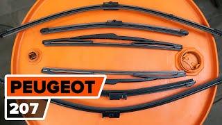 Hvordan udskiftes vindusviskere foran til PEUGEOT 207 [UNDERVISNINGSLEKTIONER AUTODOC]