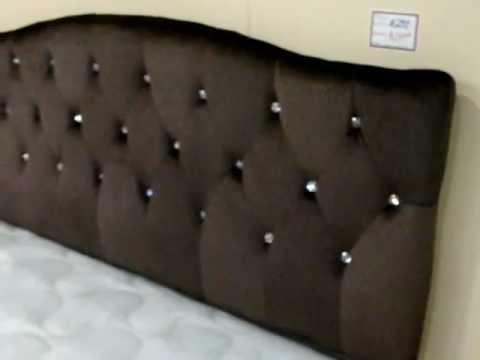 BROWN RHINESTONE BED HEADBOARD  GORGEOUS  YouTube