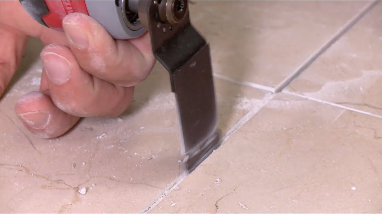 Regrouting A Bathroom Floor YouTube - Can tile be regrouted