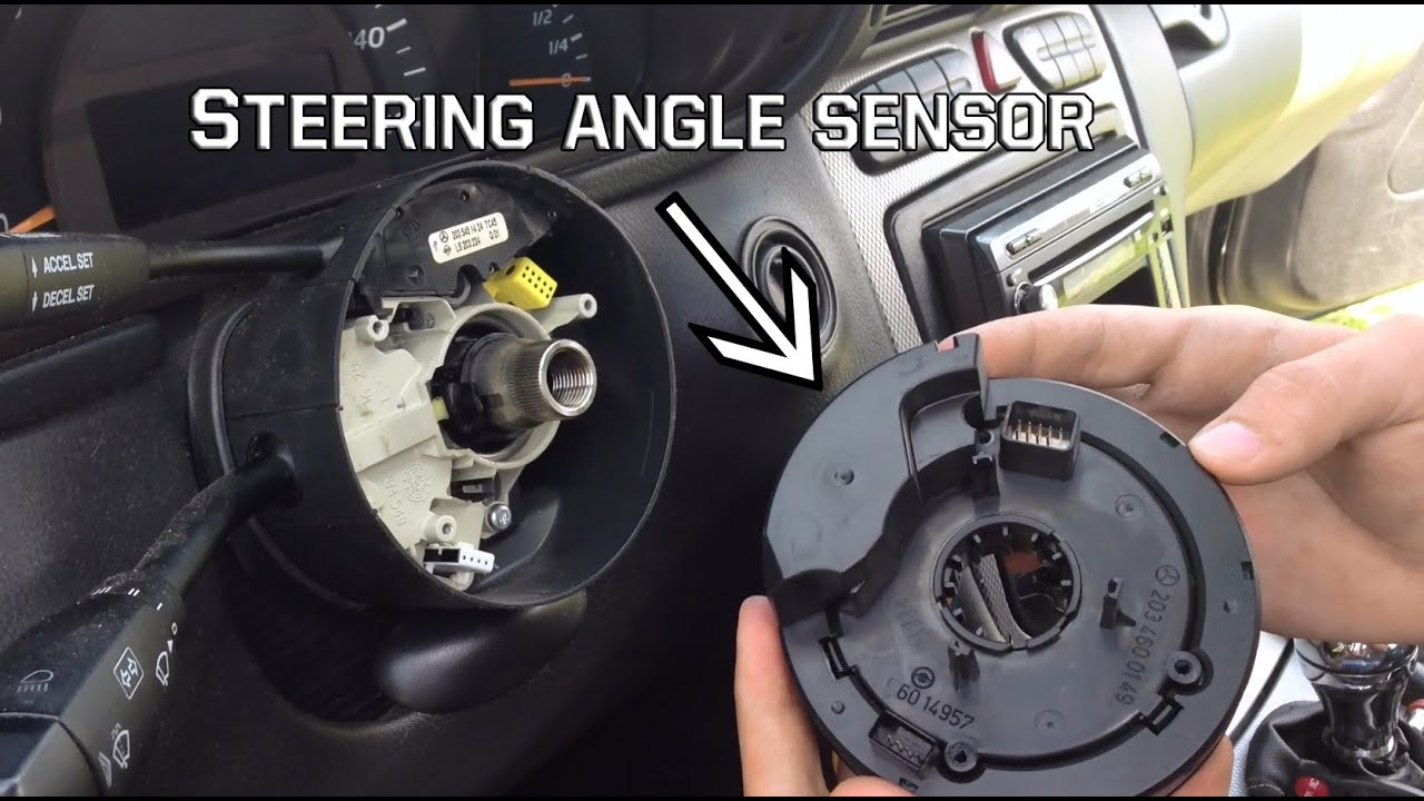 How To Remove The Steering Angle Sensor Off A Mercedes Youtube