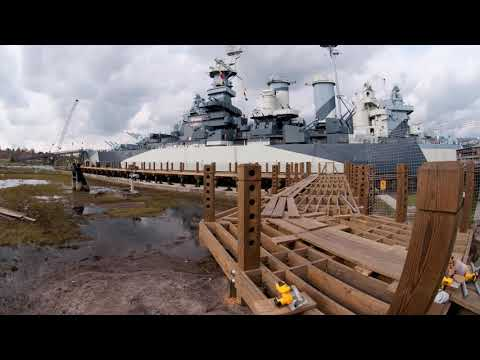 Battleship North Carolina - Cofferdam Construction November 2017