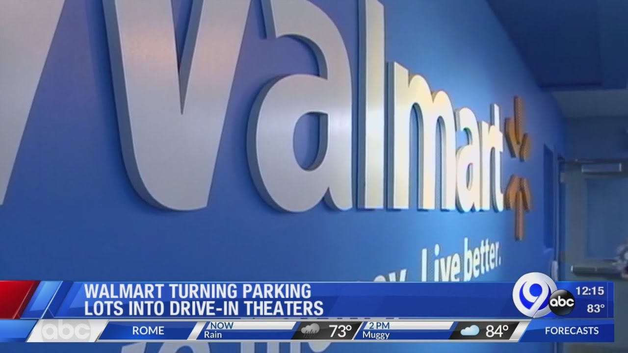 Some Walmart Parking Lots Will Be Transformed Into Drive In Theaters Youtube