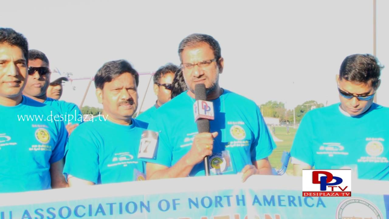 TANA Special Events Co-Ordinator Sugan Chagarlamudi speaking at TANA Mana Oori Kosam 5K Walk & Run