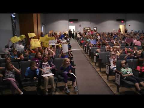 Tilford Elementary School, Vinton, Iowa, was named a National Blue Ribbon School at noon on Monday