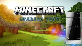 Minecraft and Shaders Test On HP Pavillion 500 214 Office PC! (LOOK IN DESCRIPTION)