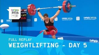 Weightlifting - Men -77kg Final | Full Replay | Nanjing 2014 Youth Olympic Games