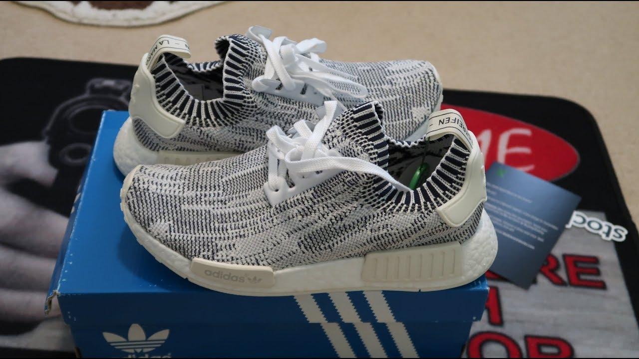 34b97b39aa7ad Adidas NMD R1 PK Grey Camo Sneaker Unboxing - YouTube