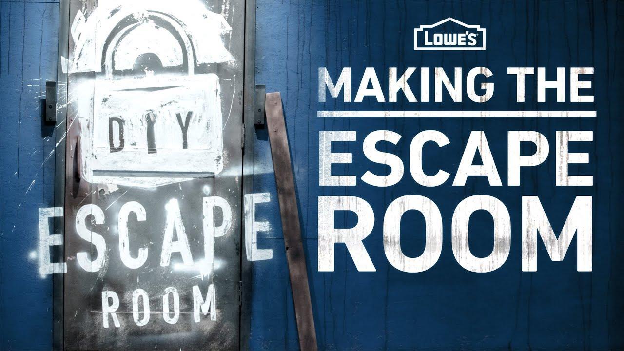 making the diy escape room behind the scenes youtube. Black Bedroom Furniture Sets. Home Design Ideas