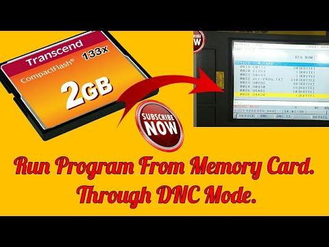 How To Run Program From Memory Card In FANUC CONTROL By CNC Programming Hindi And English