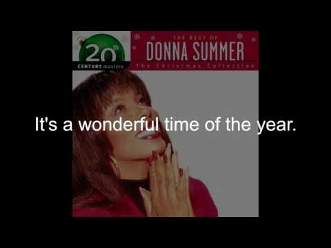 Donna Summer - Christmas is Here LYRICS - Remastered