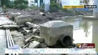Ekkaduthangal - Causeway totally damaged due to floods-locals want it repaired at the earliest