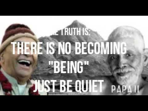 """THERE IS NO BECOMING """"BEING"""" The Truth Is - Part 14 - Papaji Audiobook - lomakayu"""