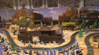 old west o scale train layout lionel mth trains marx playsets