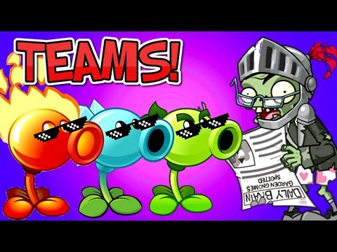 TEAMS Plants vs. Zombies 2 vs Newspaper Zombie