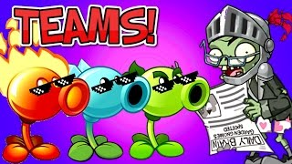 TEAMS Plants vs. Zombies 2 vs Newspaper Zombie(
