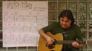 "Guitar Lesson (w/TAB) #27 : ""Sad Lisa"" (Cat Stevens) - Fingerstyle Solo Version - Helmut Bickel"