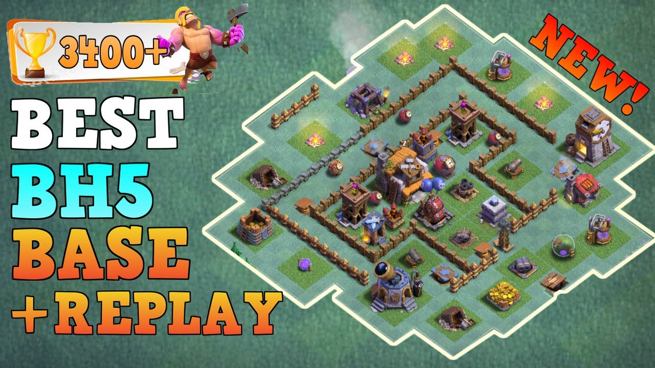 Builder hall 5 base bh5 builder base w replay coc top Best builder house 4 base