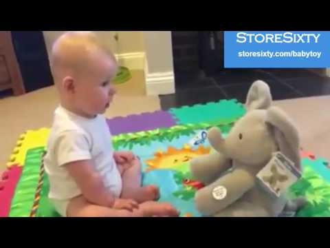 Peek A Boo Talking Elephant Plush Toy For Kids