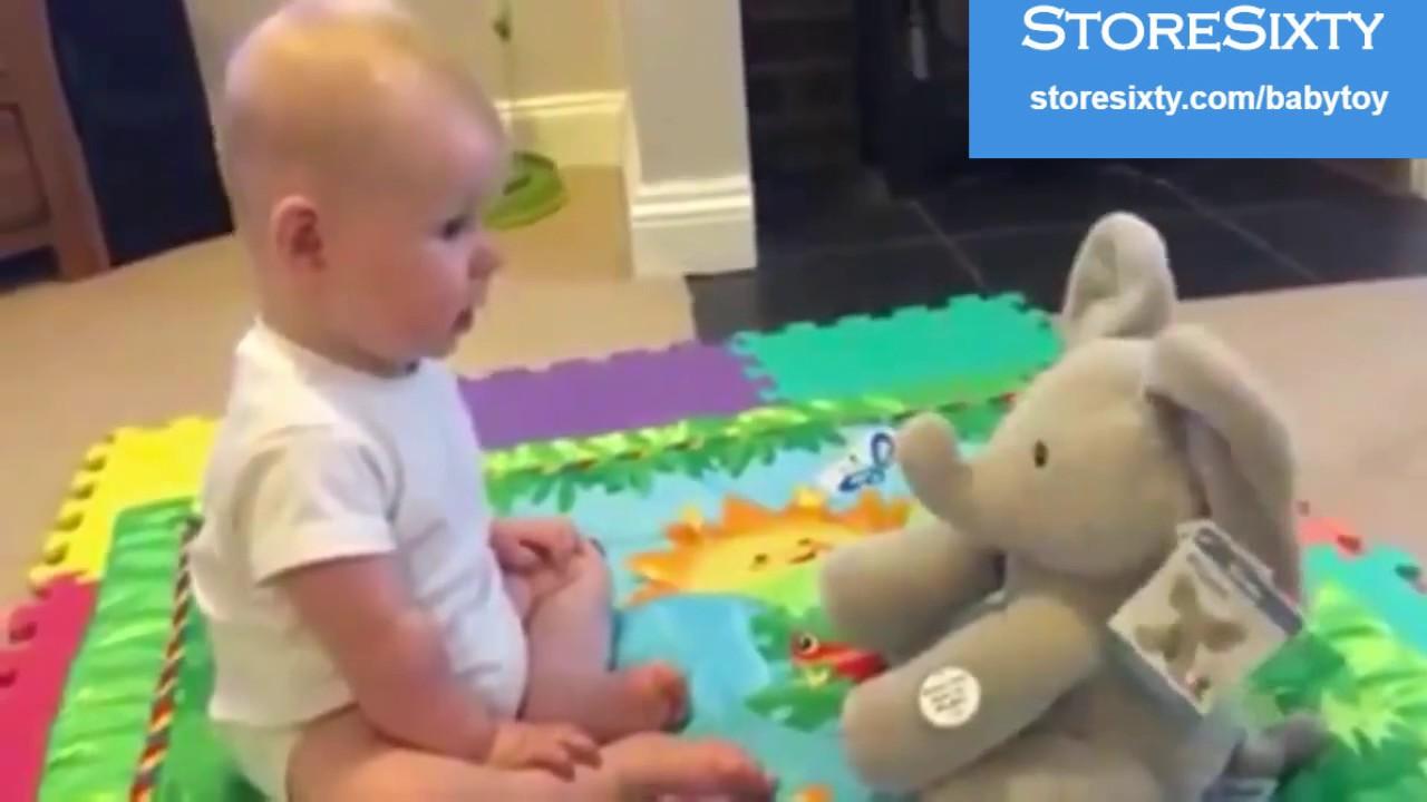 Peek A Boo Talking Elephant Plush Toy For Kids Youtube