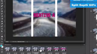 Photoshopで作る「Split Depth GIFs」(50秒)