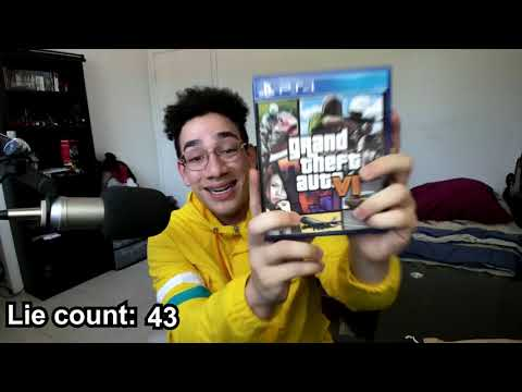 "Sernanado ""Unboxing GTA VI"" except every time he lies the speed increases by 1%."
