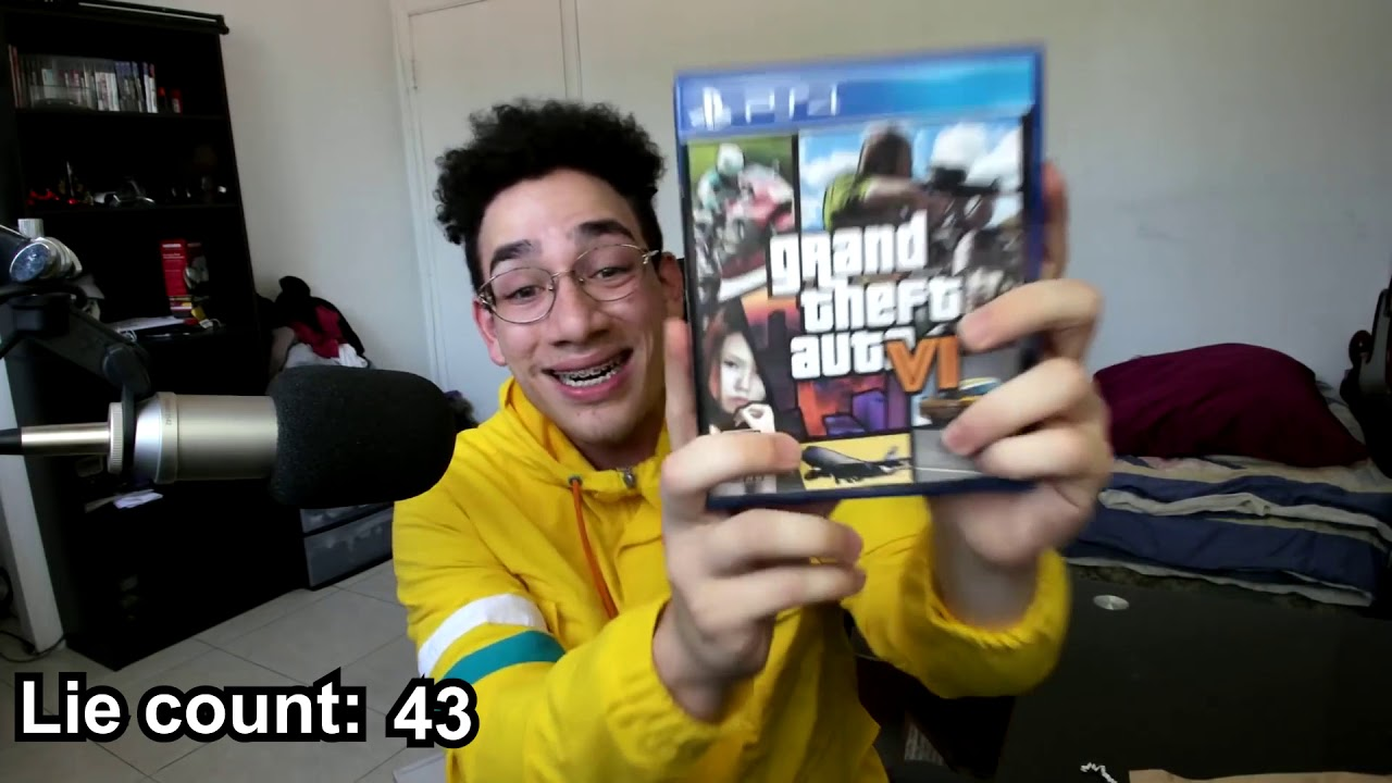 """Download Sernanado """"Unboxing GTA VI"""" except every time he lies the speed increases by 1%."""