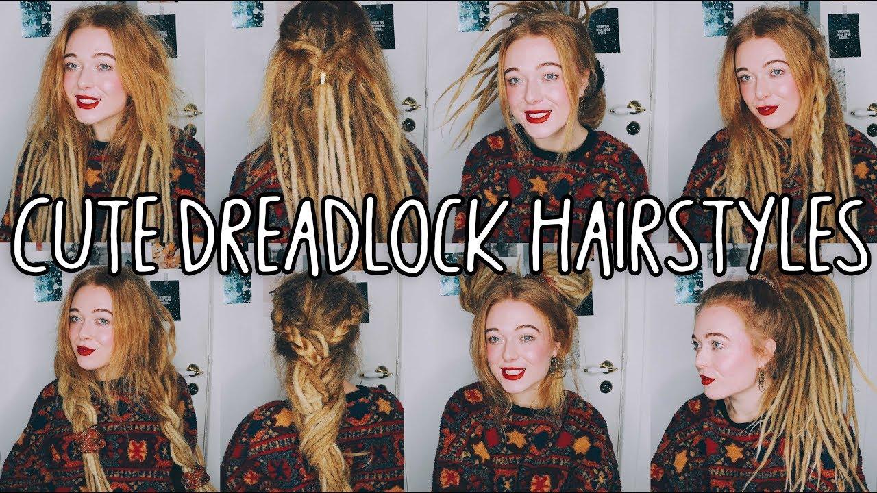 8 cute & easy dreadlocks hairstyles