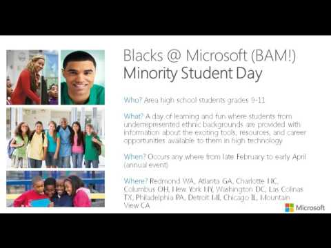 Blacks at Microsoft BAM Community Outreach