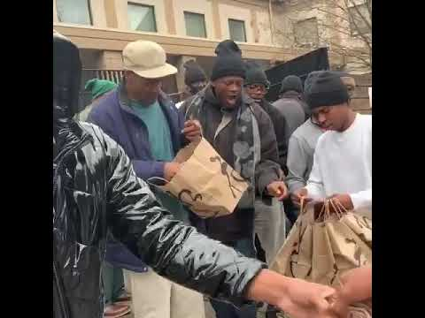 Prince The Fresh Feeding Over 100 Homeless In Benihana In Atlanta [User Submitted]