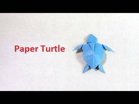 How to make Paper Turtle or Origami Turtle Tutorials - origami animals  tutorial: origami turtle