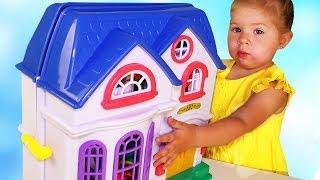 ✿ КУКОЛЬНЫЙ ДОМИК My Happy Family Волшебный Мир Игры для Девочек Dollhouse Тoys for Girls Unboxing