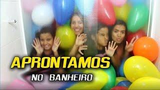 DESAFIO DA BEXIGA NO BANHEIRO - DIÁRIO DAS GÊMEAS