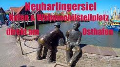 Neuharlingersiel, Hafen und Wohnmobil - Stellplatz am Osthafen, Ostfriesland, Nordsee
