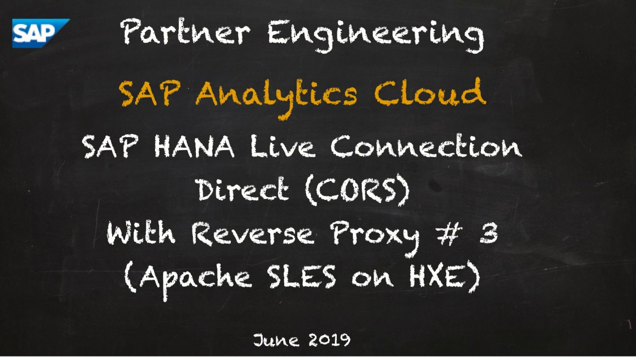 Apache HTTPS Reverse Proxy for SAP Analytics Cloud Live